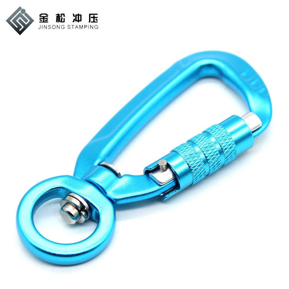 High Strength steel square hook outdoor D Shaped aluminum carabiner clip