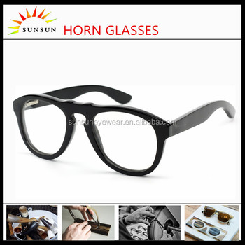 2015 Vogue óculos de leitura óculos de chifre de búfalo preto chifre óculos  de armação para 1ef27d21f7