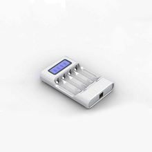 AA/AAA Ni-MH rechargeable battery charger with LCD display