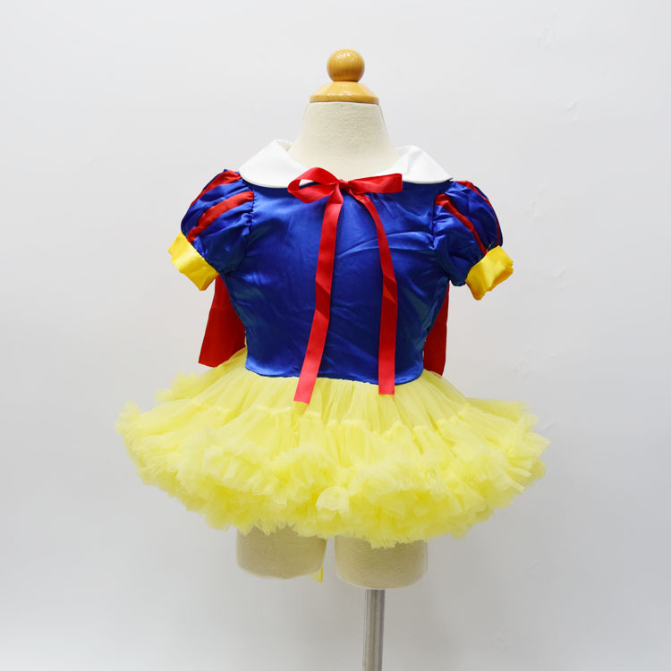 Newest tutu dress hand made dresses Snow White dress