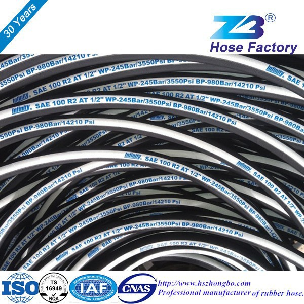 Iso9001 Certificate Flexible Hydraulic Hose Manufacturer Sae 100 ...