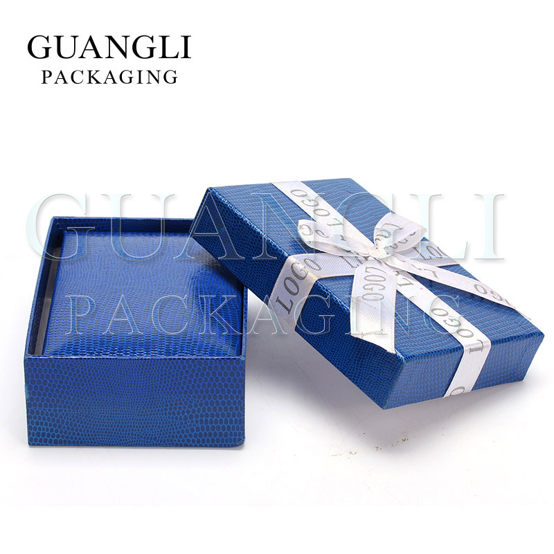 FASHION LOGO PRINTED ON ribbon bowknot paper box necklace jewelry box