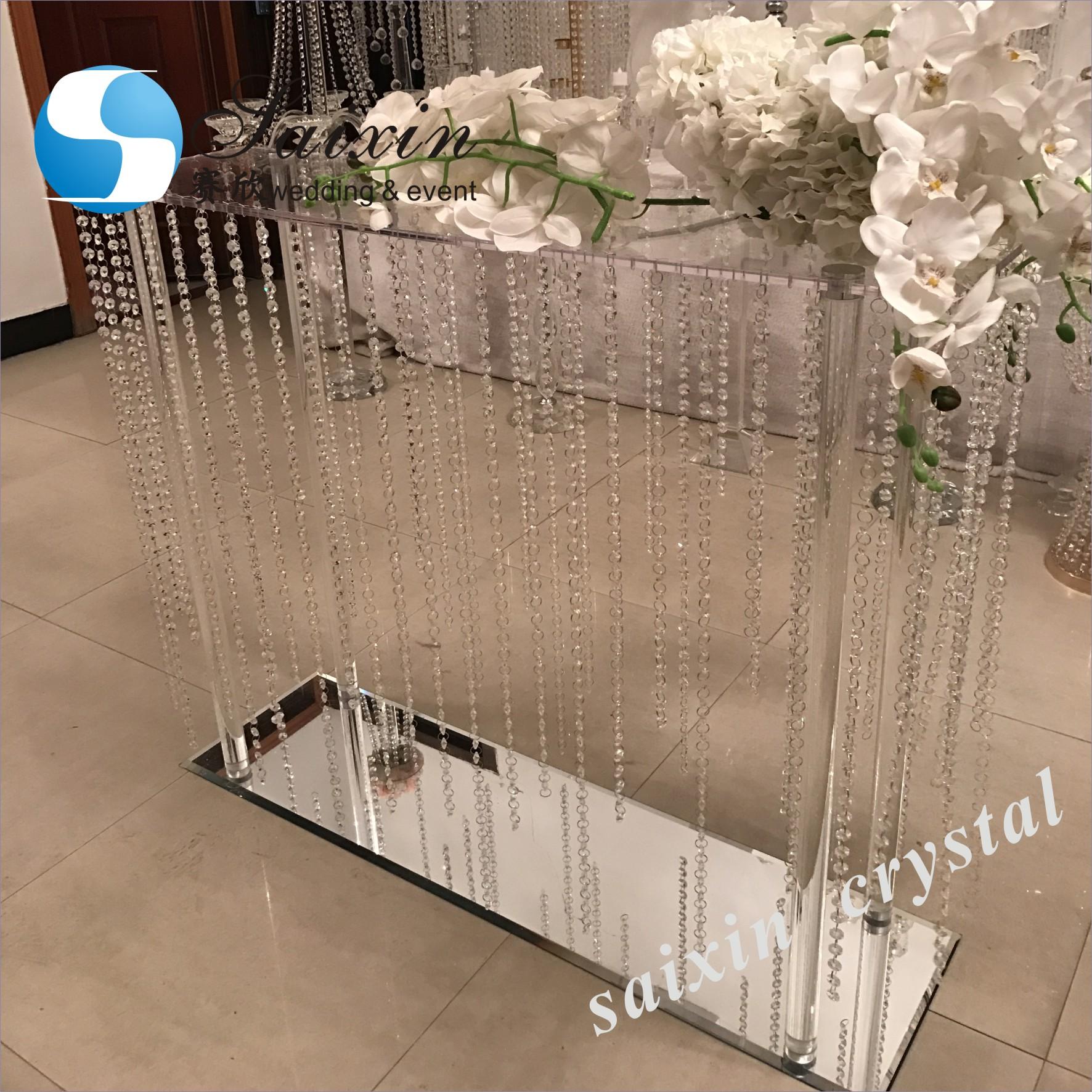 ZT-369 роскошная хрустальная Цветочная подставка для свадебного украшения