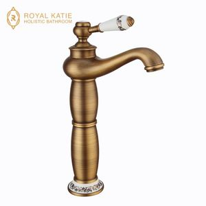 "Wholesale And Retail Luxury Golden Bathroom Basin Faucet Deck Mounted 8"" Widespread Vanity Sink Mixer Tap Tub Faucet"