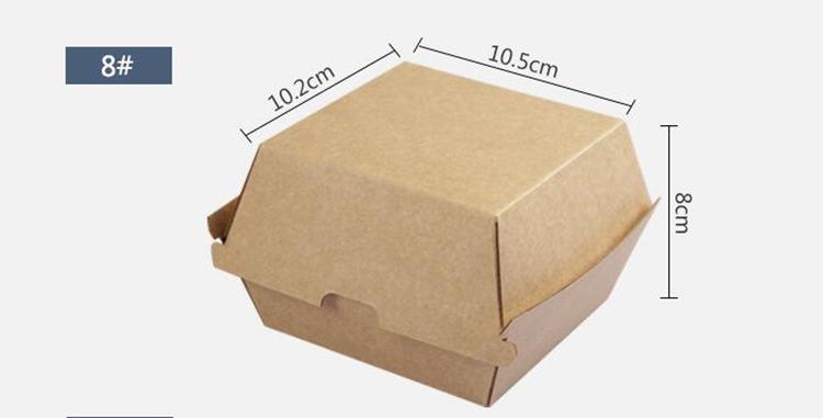 Customized long cardboard box for packaging burger