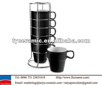 Stackable Coffee Mugs With Rack Mug