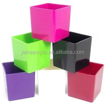 Colorful Customized Decoration Acrylic Cube Vase