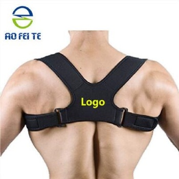 Amazon hot selling improved adjustable back posture corrector for women and men lower back