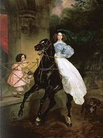 30x40cm elegant princess with black horse rhinestone 3d oil painting on canvas