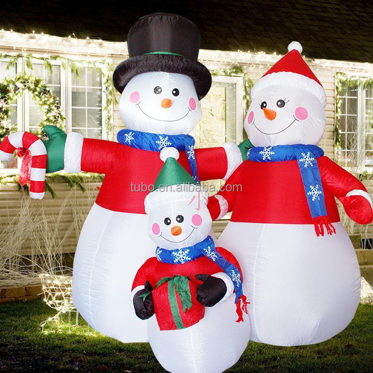 hot sale lowes outdoor christmas snowman decorations with led light olaf inflatable snowman made for