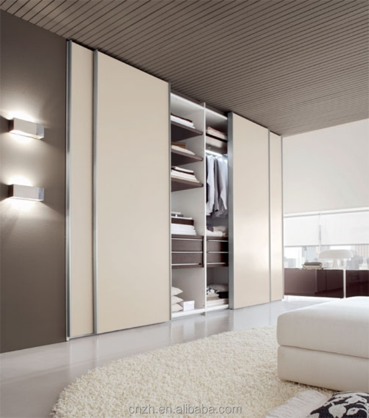 Indian Style Acrylic Laminate Bedroom Wardrobe Design