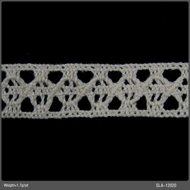small size ecru cotton lace trim crochet cotton eyelet lace trim