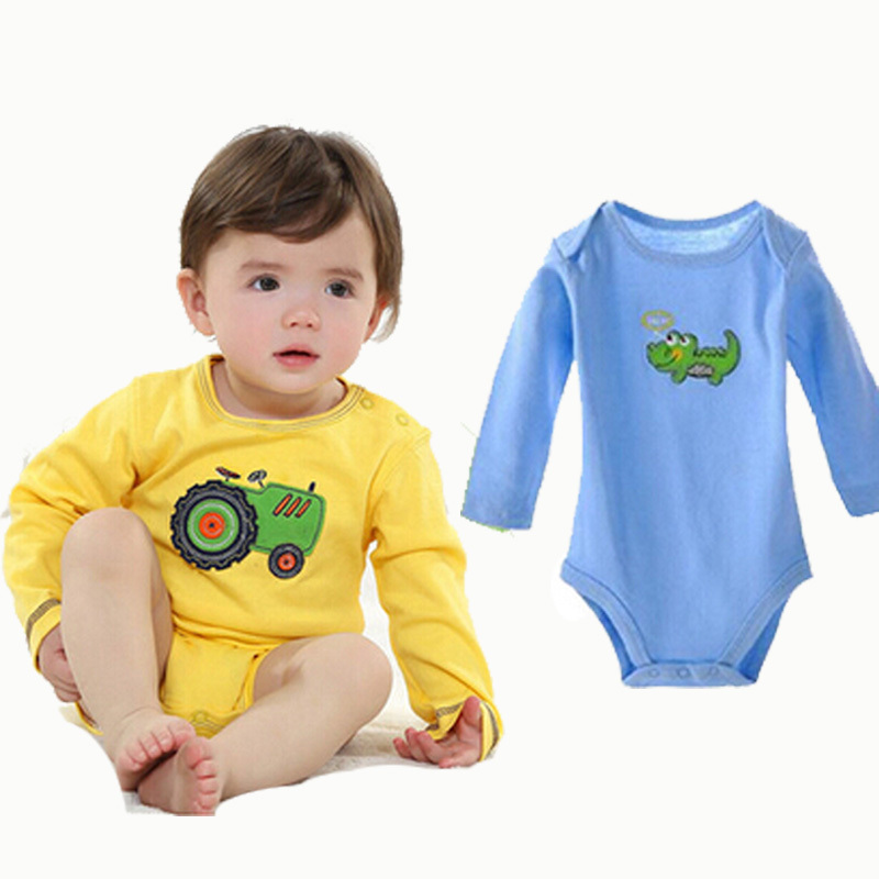 Buy 2015 Newborn Infant Rompers Fake Two Pcs Summer Style 100