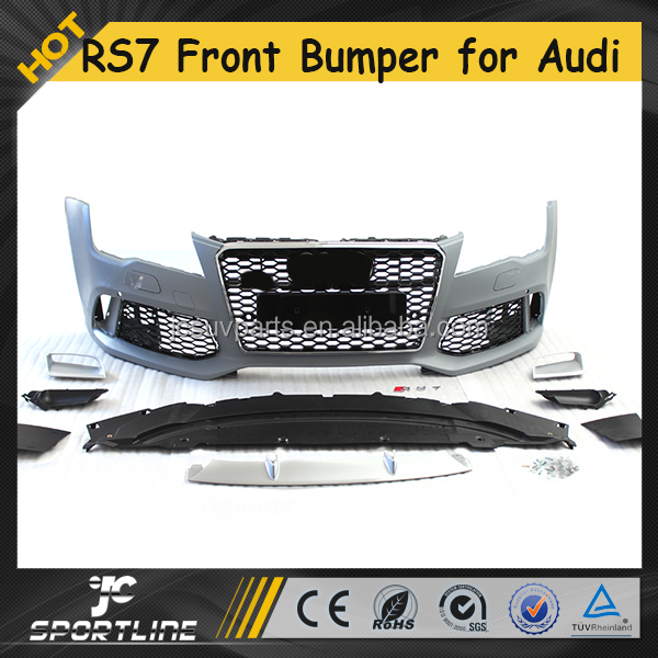 RS7 Style PP Auto Car Front Bumper for Audi A7 S7 Slin e 2014