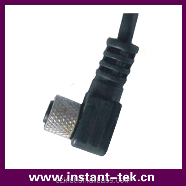 INST IP67 ip68 waterproof 3,4,5,8 pin m8 right angle connector