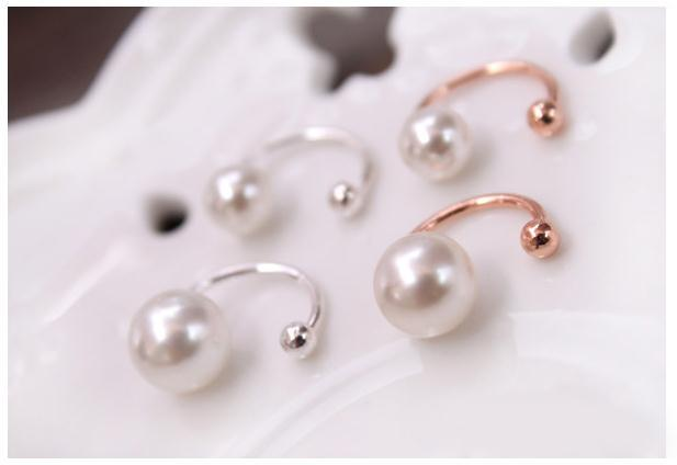 Yiwu Manufacturer Sells Korean Pearl Ear Bone Clip U Clip Without Earhole Invisibility Earrings For Women
