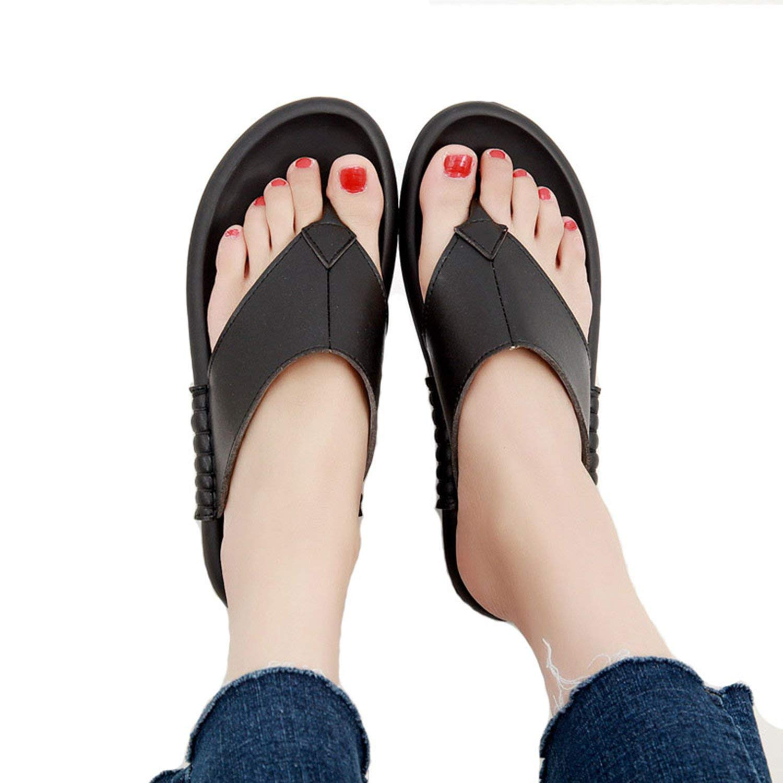 Gouache New 2018 Summer Women Genuine Leather Slippers Beach Flip Flops