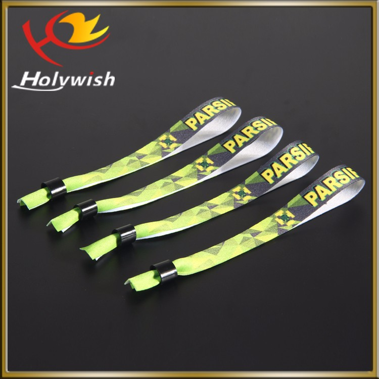 Custom Sublimation Polyester Wristbands For Event Ticket