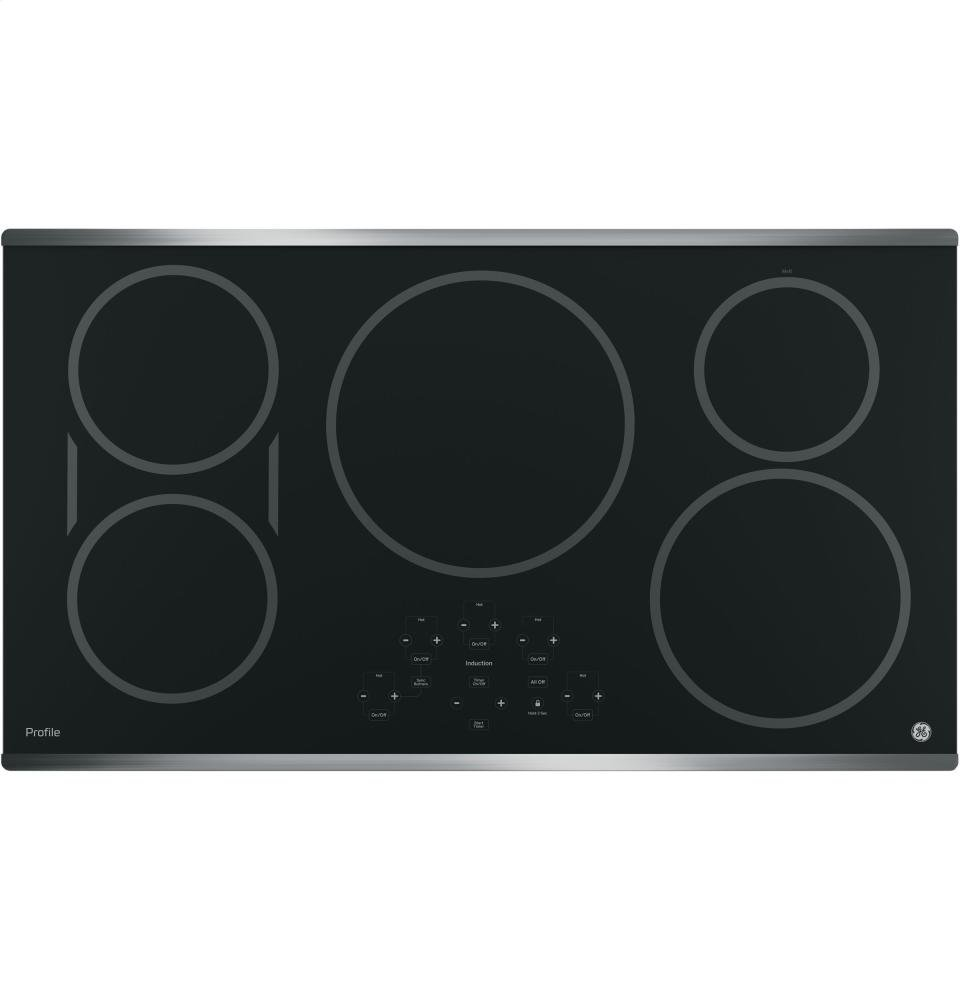 "GE PHP9036SJSS Profile 36"" Stainless Steel Electric Induction Cooktop (Certified Refurbished)"