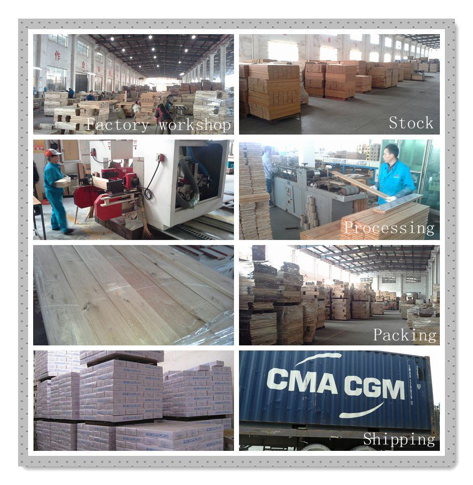 C&L smooth UV coating ekki solid wood flooring