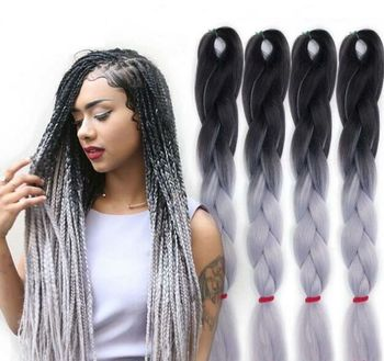 Synthetic Hair Extension Super Jumbo Braid Ombre For Braiding