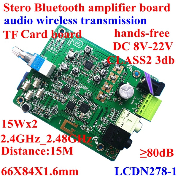 15w Pam8620 Stero Bluetooth Receiver Amplifier Circuit Board /hands-free Wireless Transmission