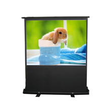 Floor Pull Up Projection Screen/Portable Floor Standing Projector Screen with 16:9 and 4:3