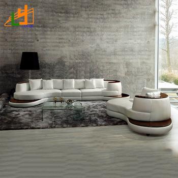 Nuevo Modelo Blanco Cuero Genuino Sofá Muebles De La Sala Establece ...