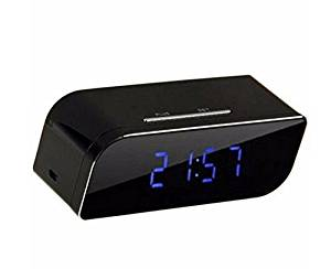 P2P Wifi Pinhole Hidden Alarm Clock Camera Mini Spy Clock Camera, P2P Remote Control Wi-fi Live View (Real-time Video By Wifi Mobile Phones, Computer) with 12pcs X-red Night Vision Online Camera,1080P
