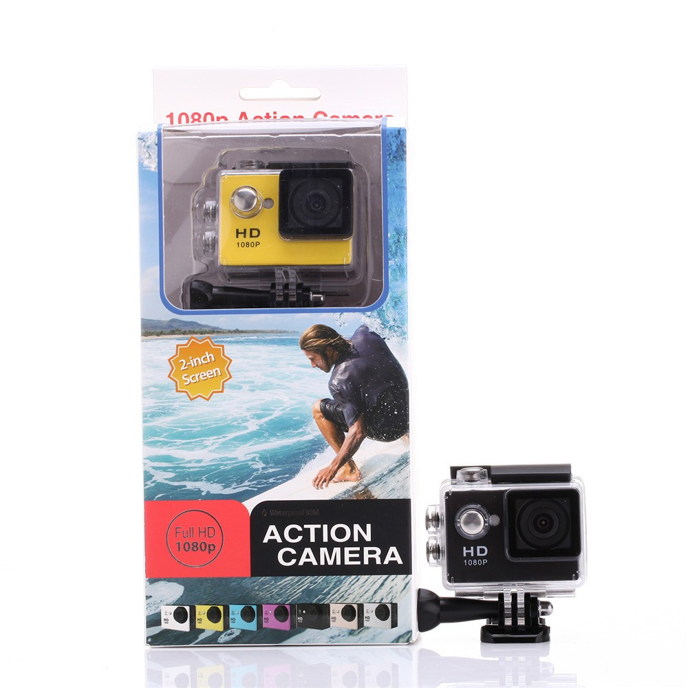 quality action sport cam 2 0 inch a9 action camera 1080p full hd 30m waterproof sport dv camera. Black Bedroom Furniture Sets. Home Design Ideas
