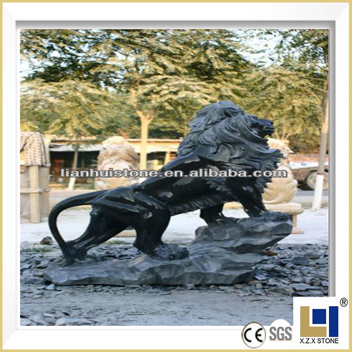 Natural marble stone carving lion statue and other customized size animal sculptures