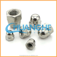 Made in china high-quality din 986 - self locking domed cap nuts with nylon insert