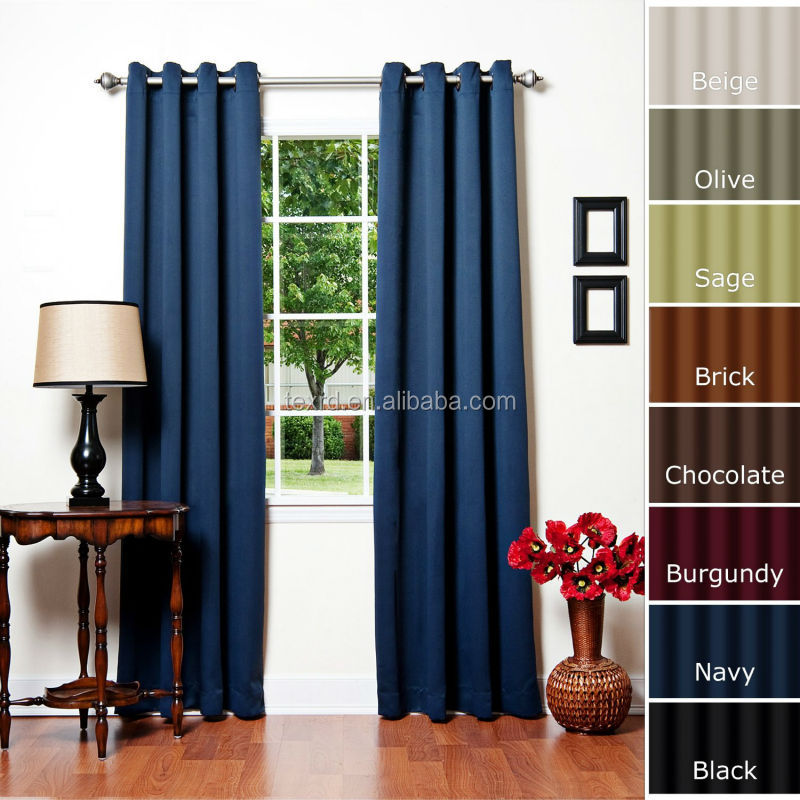 Fashion Latest Designs Dyed Color Curtain