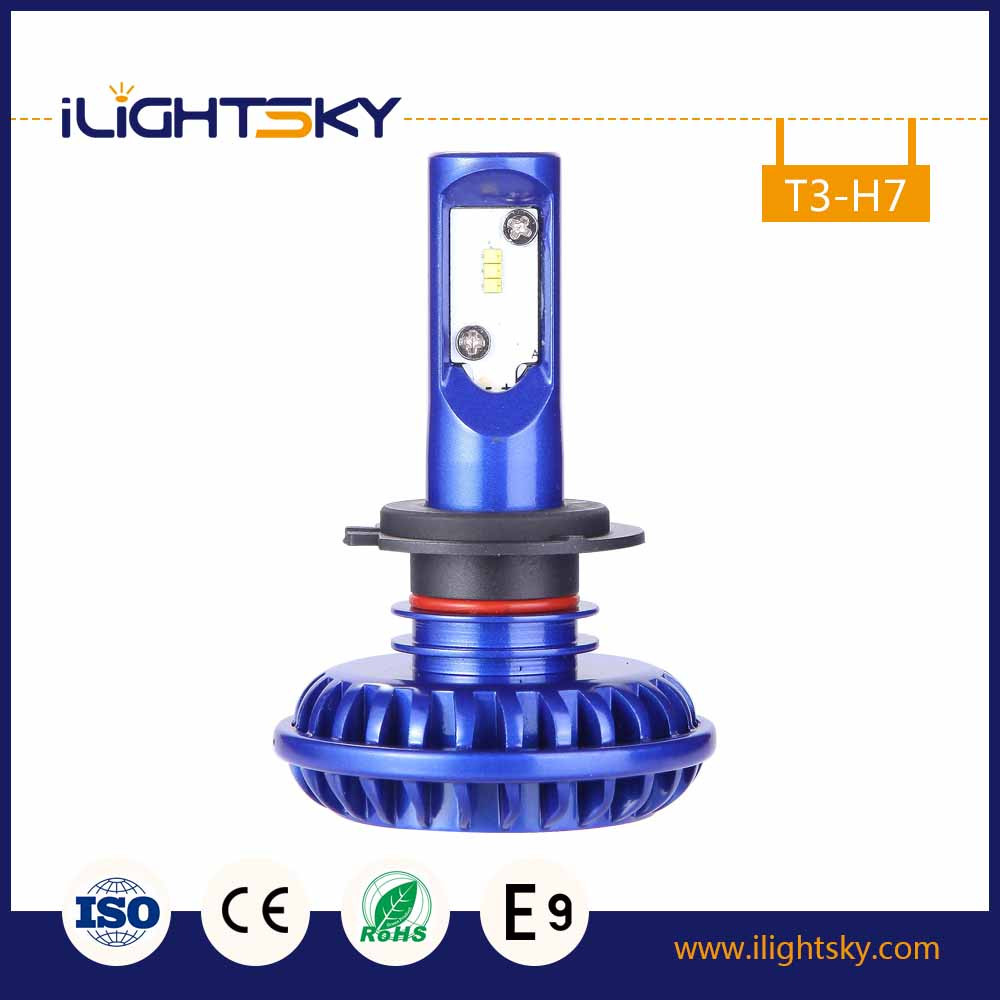 h7 led light headlight with 12 volts car bulb 50W