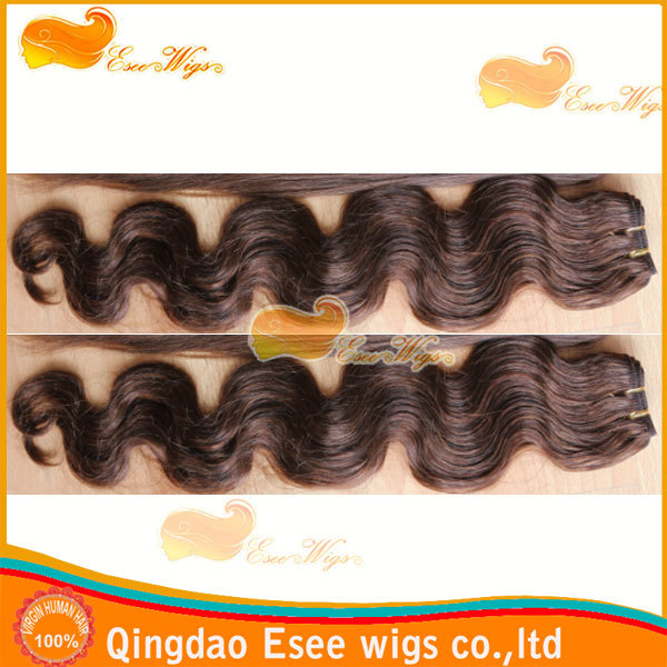 eseewigs qingdao factory wholesale 100% human hair synthetic blended hair
