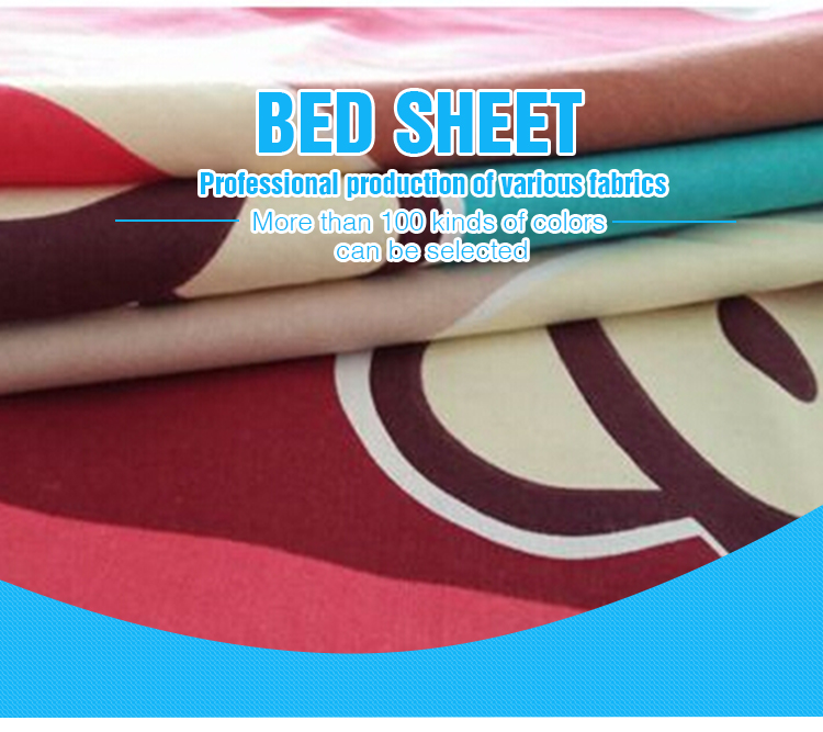 Queen Size Plain 100% Cotton Europe Style Bed Sheet
