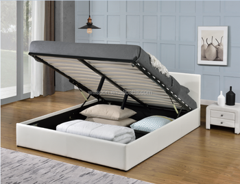 Simple Cheap Beds For Sale Double/ King Size gas lift Storage PU Leather Bed 1166G & Simple Cheap Beds For Sale Double/ King Size Gas Lift Storage Pu ...