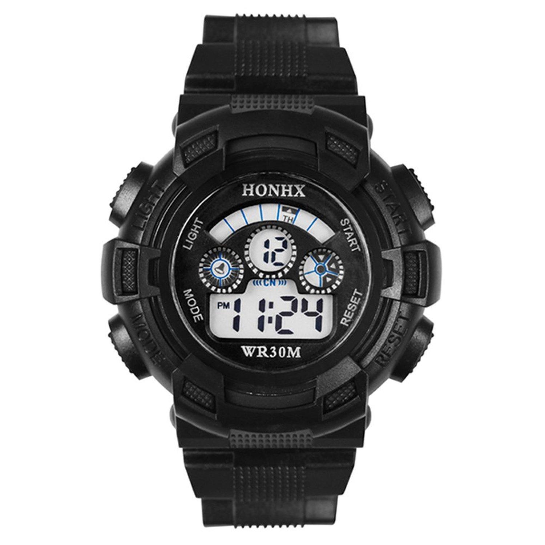 Smart S-Shock Multi Function Digital LED Quartz Watch Water Resistant Sport Watches Black