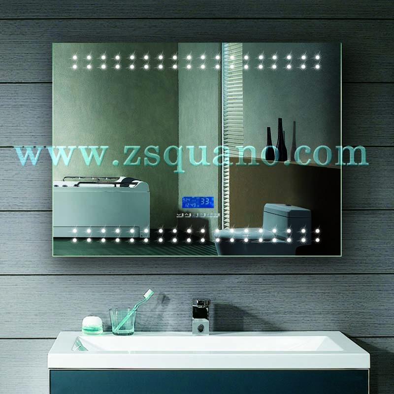 Top Illuminated Bathroom Mirror With Led Digital Clock - Buy ...