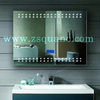 TOP Illuminated Bathroom Mirror With LED Digital Clock