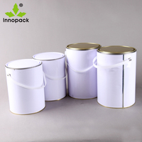 3L white empty metal tin pry spray paint aerosol / printing ink can with pry cover Wholesale manufacturers