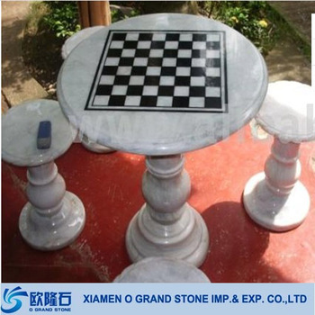 Garden Stone Chess Table Marble Outdoor Chess Table