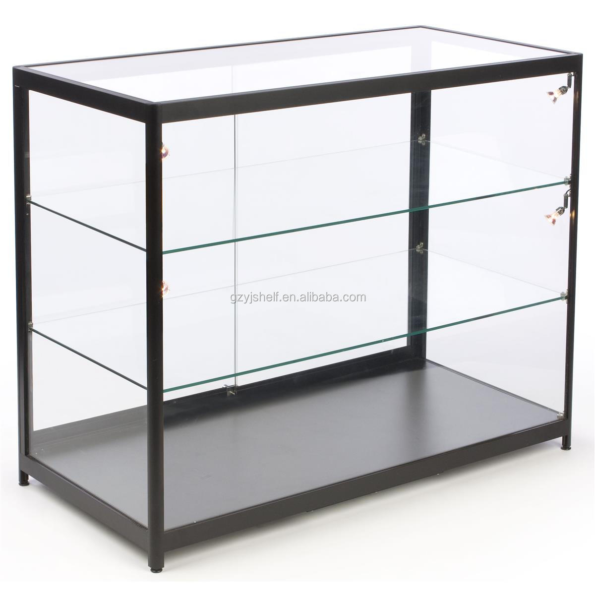 Multifunction use cigarette display cabinet corner for Small wall showcase