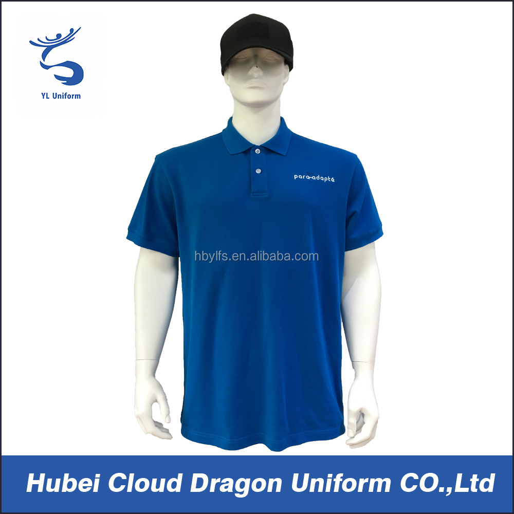 Cheap Security Dress Shirts Blue Or White Security Polo Dress For