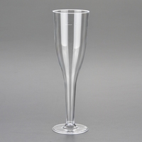 4.5 oz Disposable Plastic Champagne Glass Wine Cup