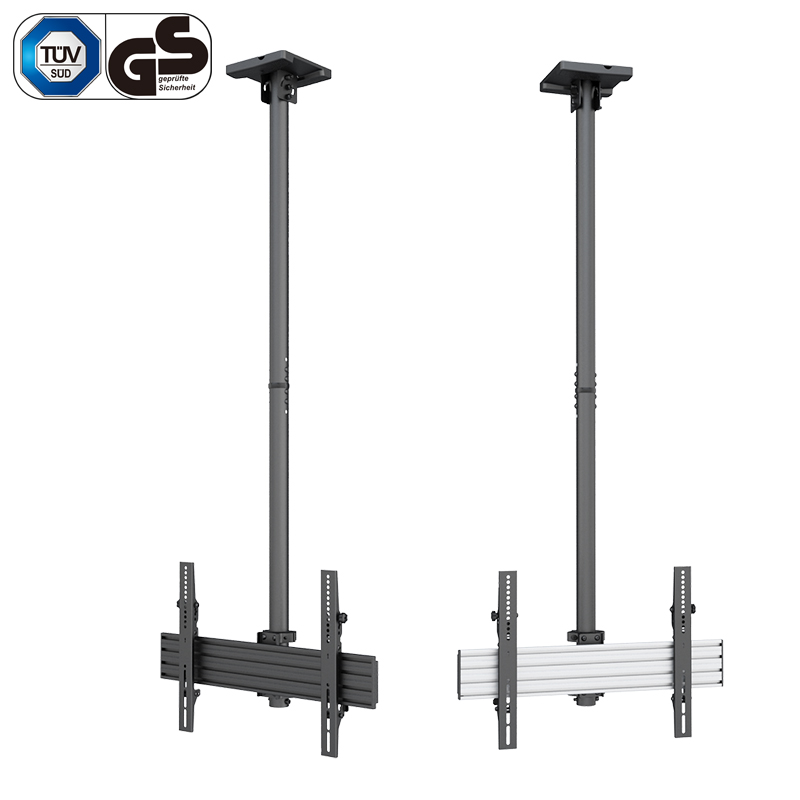 GS Standard Height Adjustable Telescopic Flip Down Ceiling TV Mount
