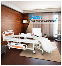 Medical equipment back adjustable electric wheel chair cum hospital bed