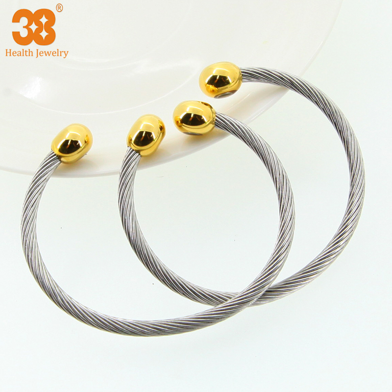 China hot wholesale stainless steel bangle with element stone