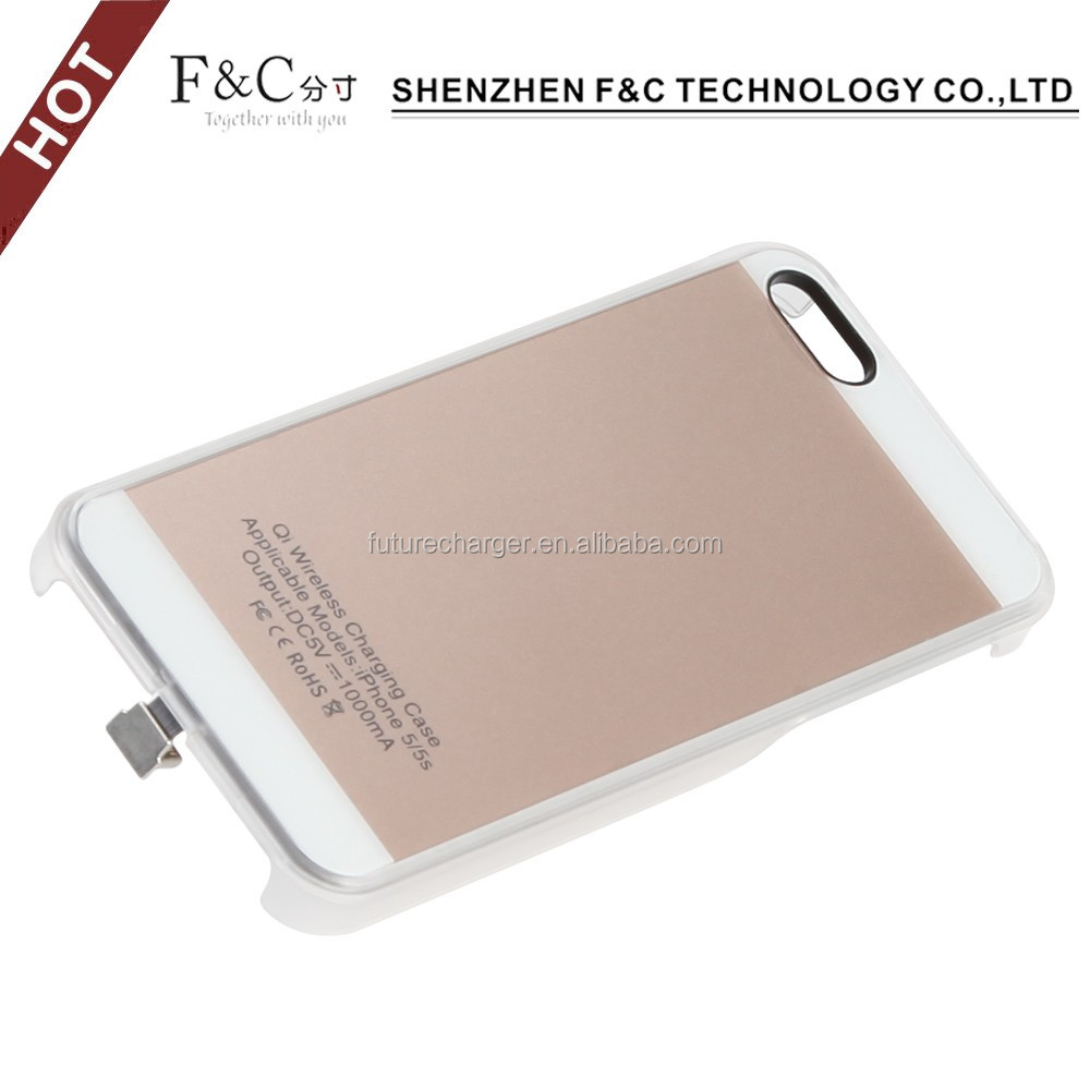 factory price wireless charger receiver ,for iPhone 5 5s Qi Wireless Charging case