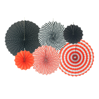 halloween sale 6 Piece Spiral Fan Set Party Decor Supplies Many colors to choose from